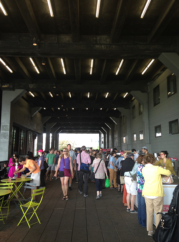 Tunneling through the Nabisco building—summer food paradise, 2014.